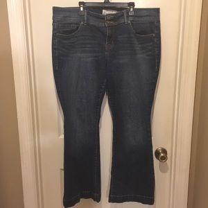 Torrid Denim Women's 16 Short Boot Cut Flare Jeans
